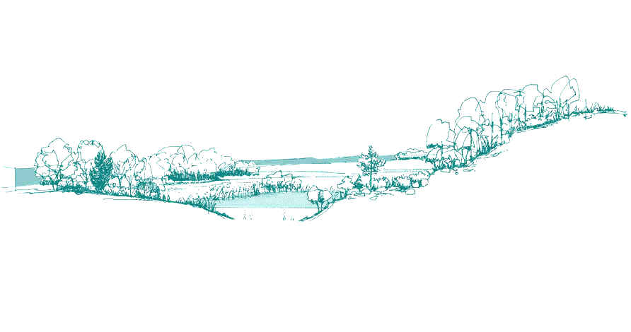 Illustrations d'espaces naturels, espaces ruraux