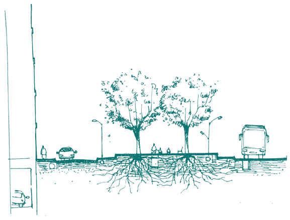 Illustrations d'espaces publics