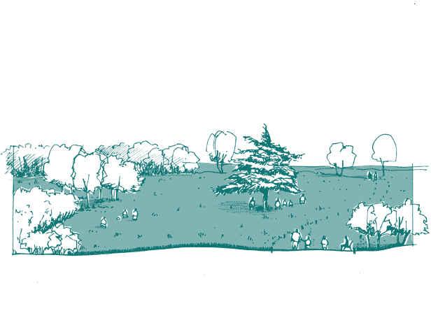 Illustration de parcs et jardins
