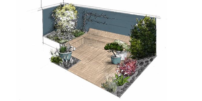 «Tsubo-niwa» Jardin privé – Reims (51)