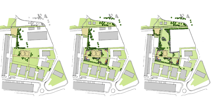 parc existant/ projet temps 1/ projet temps 2-parcaucoeurdelilotbétheny-atelierdesaugures