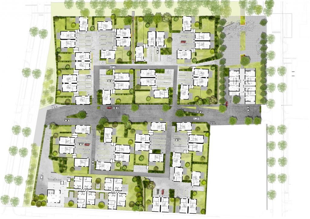 Projet urbain – Concours pour la construction de 95 logements sociaux, voiries et espaces publics – La Chapelle-St-Luc (10)
